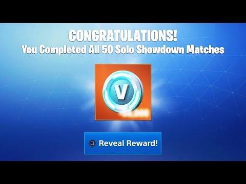 "What happens when you FINISH all 50 Matches of ""SOLO SHOWDOWN"" REWARDS! (Fortnite Solo Showdown)"