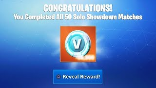 "What happens when you FINISH all 50 Matches of ""SOLO SHOWDOWN"" REWARDS! (Fortnite Solo Showdown)"