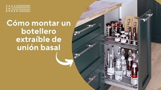 Cómo montar un botellero extraíble de rejilla de unión basal para mueble de cocina