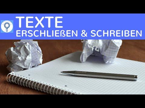 Wie schreibe & erschließe ich einen Text? Textplanung, Textaufbau & Texterschließung einfach erklärt