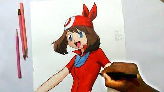 how to draw may haruka from pokemon