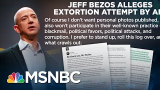 Amazon CEO Jeffrey Bezos Vs. National Enquirer CEO David Pecker | Velshi & Ruhle | MSNBC