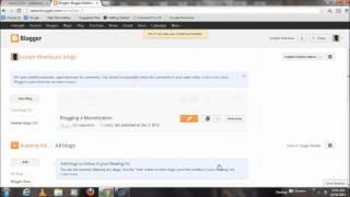 كيفية إنشاء/جعل مدونة على Blogger الخاص بك باستخدام ز حساب بريد 2013