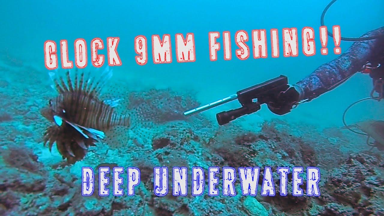 glock-fishing underwater | 9mm handgun shooting lionfish - youtube, Reel Combo