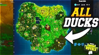 "Find All 17 ""RUBBER DUCKIES"" Locations On Fortnite! 😱 All Locations For The Rubber Duckies!"