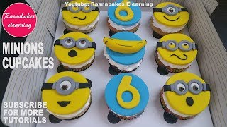 minion vanilla cupcakes toppers:minion theme fondant birthday cupcakes Decorating ideas recipes