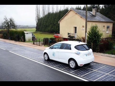 France has World's First Solar Panel Road