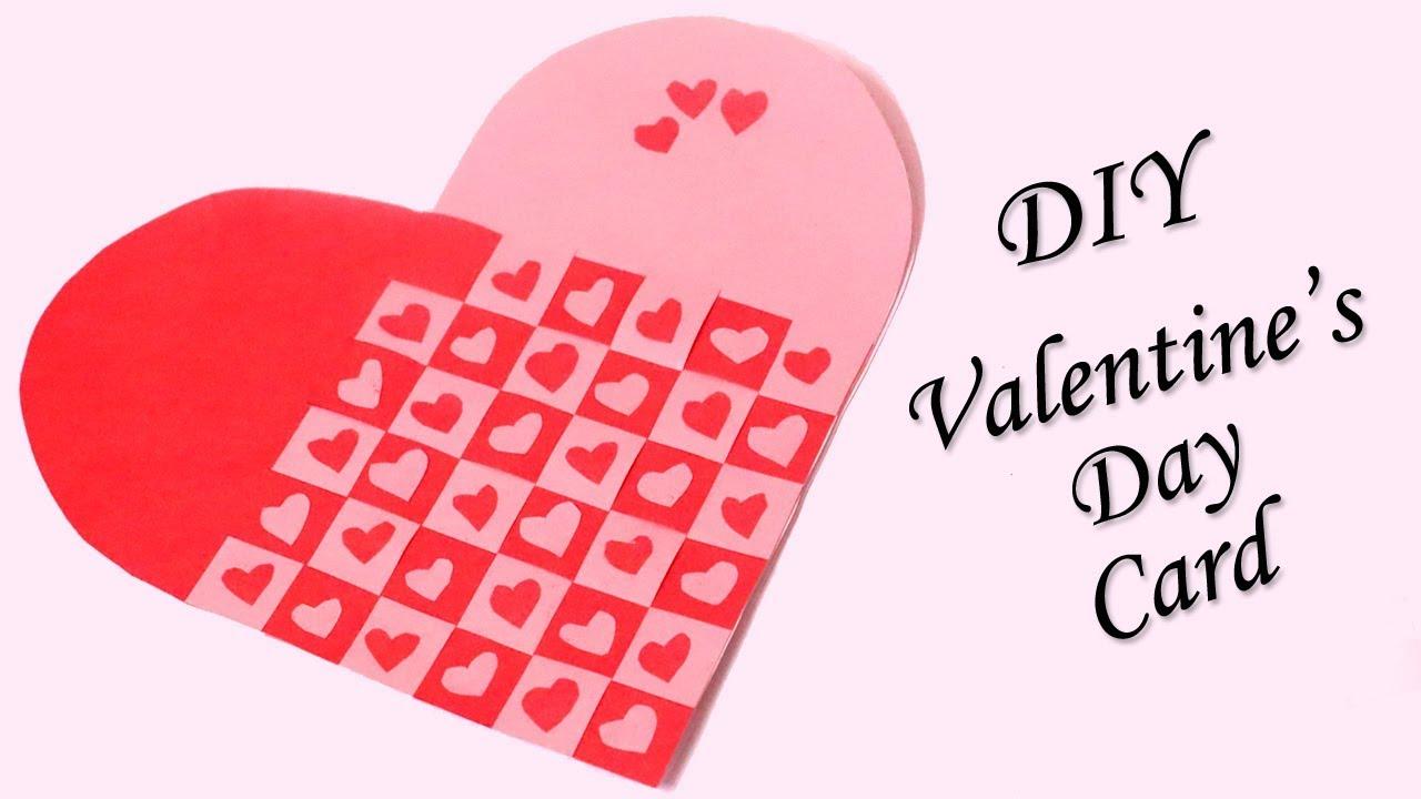 handmade valentine s day card heart shaped diy valentine card