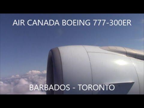 TRIP REPORT: Air Canada Boeing 777-333(ER) Barbados - Toronto | PREMIUM ECONOMY