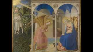 Fra Angelico, The Annunciation and Life of the Virgin (in the predella), c. 1426