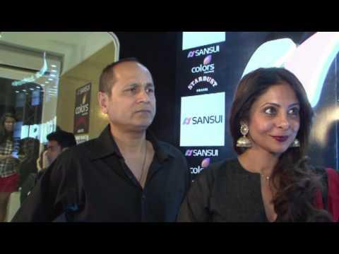 Shefali Shah & Vipul Shah  Red Carpet - #SansuiColorsStardustAwards