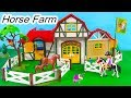 Horse Farm ! Playmobil Barn , Tack Room, Stalls Building Playset Toy Video