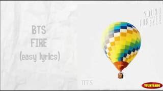 BTS - FIRE Lyrics (easy lyrics)