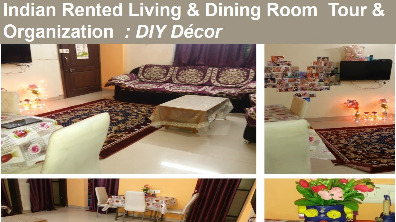 Indian Living Small Dining Room Organization Tour Ed Apartment Diy Decoration