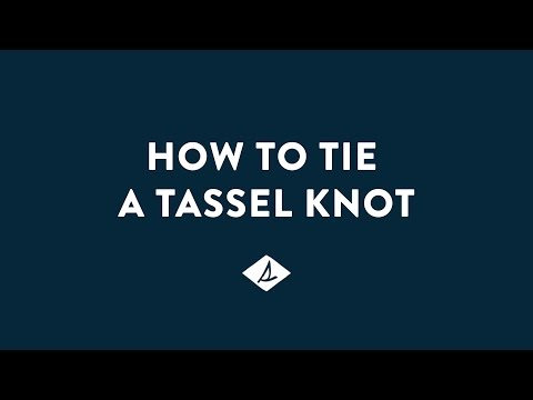 How To Tie A Sperry Tassel Knot