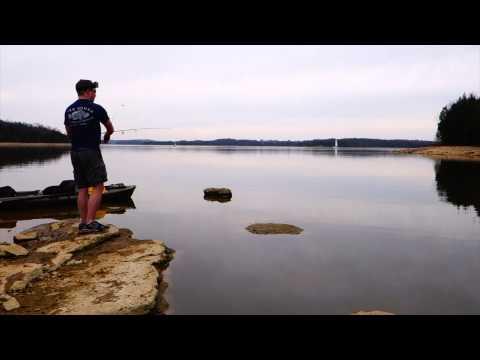 Shallow Kayak and Bank Fishing White Bass Percy Priest Lake