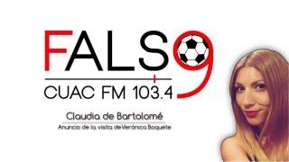 Anuncio de la visita de Vero Boquete en Falso 9 de CUAC FM