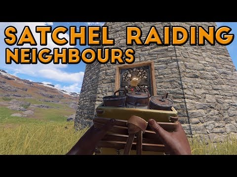 SATCHEL RAIDING THE LOCALS!! (Rust Survival Vanilla)