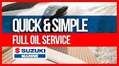 suzuki DF oil change boat - YouTube