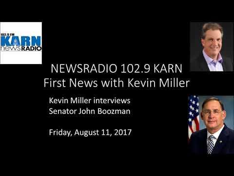 Senator John Boozman on 1st News w/Kevin Miller