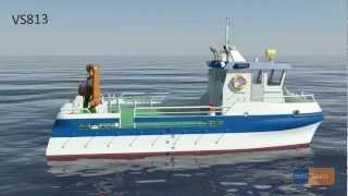 Ocea VS813 katamaran/ catamaran workboat