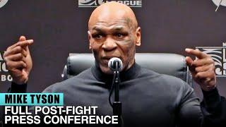 MIKE TYSON'S FULL POST FIGHT PRESS CONFERENCE VS ROY JONES (FULL VIDEO)