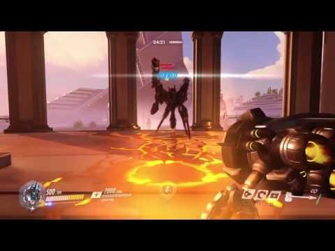 Overwatch Oasis Aerial Reinhardt Kill