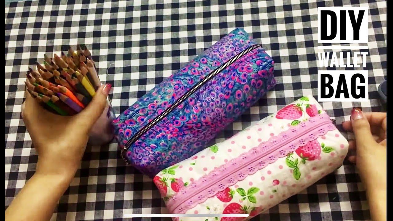 Hướng dẫn may túi ví cơ bản ( #túiđựngbút ) – How to make basic wallet bags