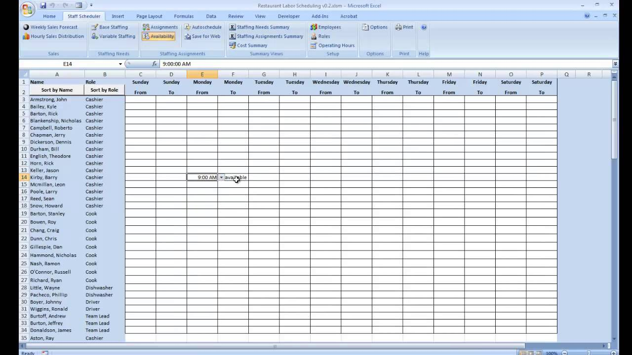 Managing Employee Availability Planners Version Youtube