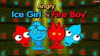 ПРИКЛЮЧЕНИЯ ОГОНЬ и ВОДА в  храме Ужасов #1 Развлекательное видео для детей Игровой мультик