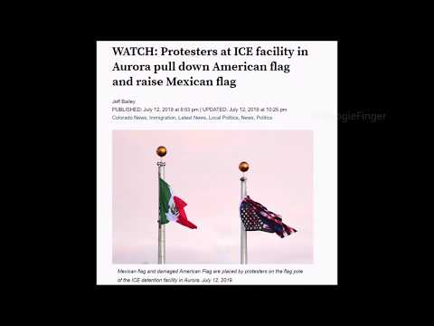 Leftists Pull Down & Deface American Flag, Raise Mexican Flag