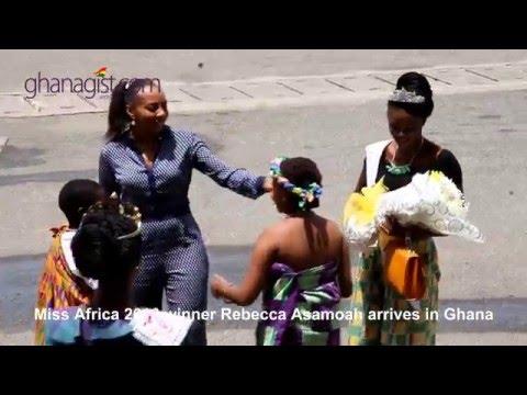Miss Africa 2016 Rebecca Asamoah arrive in Ghana | GhanaGist.Com Video