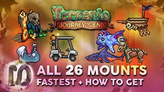 ALL 26 MOUNTS iฑ Terraria 1.4 Journey's End Guide, FASTEST MOUNT, How to Get All Mounts in Terraria