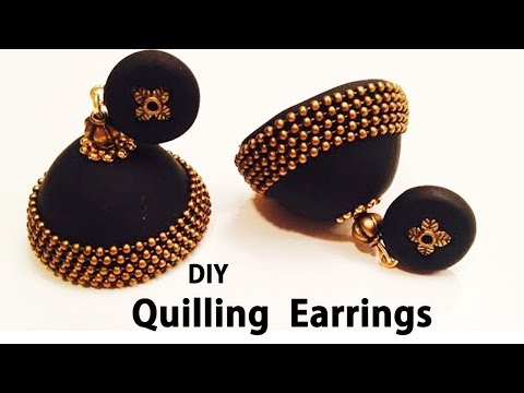 How to make Quilling Paper Earrings Making Video | DIY earrings | 5-Minute Crafts