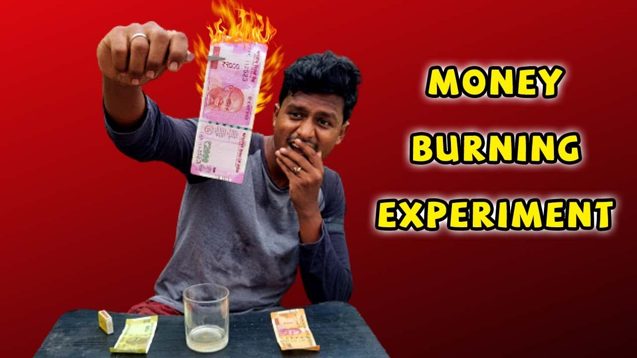 Money Burning Experiment  🔥   2000 ரூபாய் என்ன இப்படி எரியுது!   Fire Magic Trick