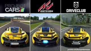 Assetto Corsa vs. Project CARS vs. DriveClub | PS4 Graphics & Sound Comparison Gameplay