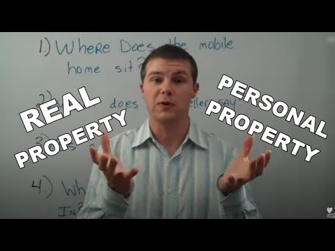 Are Mobile Homes Personal Property or Real Property?