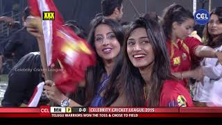 WICKET In First Over Against Mumbai Heroes. Telugu Warriors Supporter Erica Fernandes Excited