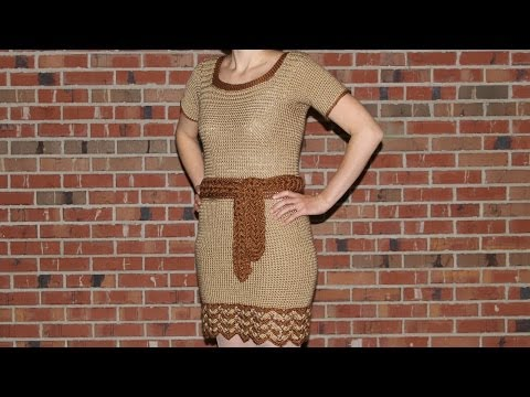 How to crochet a dress - video tutorial with detailed instructions
