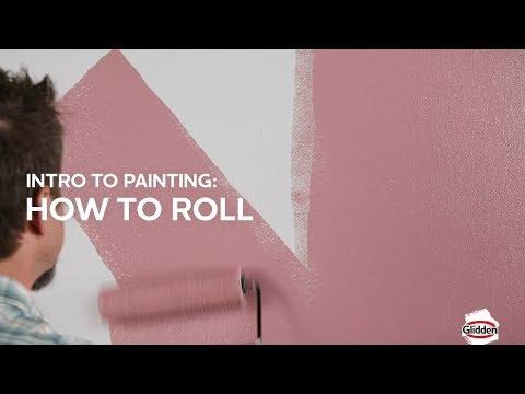 Glidden Paint - How to Roll a Roller