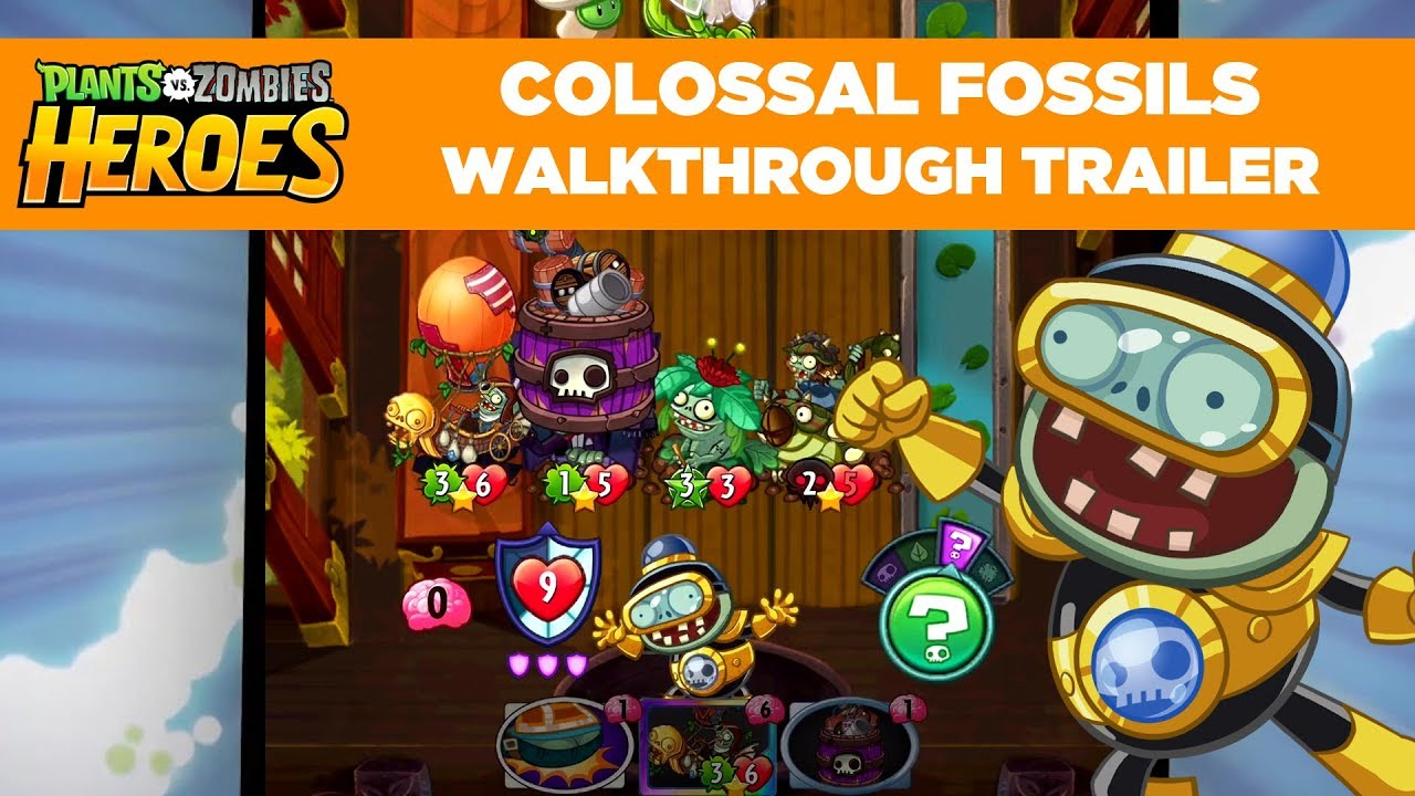 Colossal Fossils Gameplay Walkthrough Trailer Plants Vs