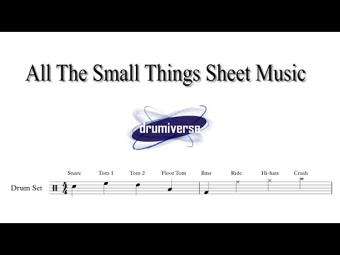 All The Small Things  Blink 182  Drum Score Request #4