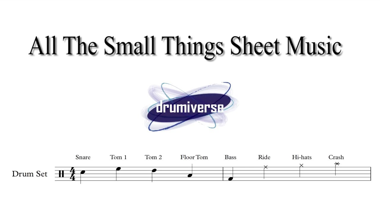 All The Small Things By Blink 182 Drum Score Request 4