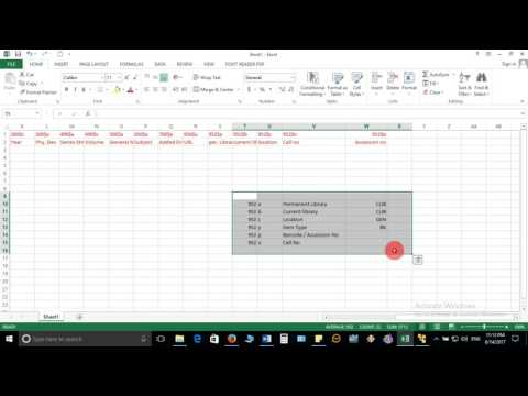 2  Data Migration   Prepare the Excel File