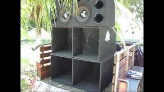 Paredão de som - Caixa Turbo Bass - Grave