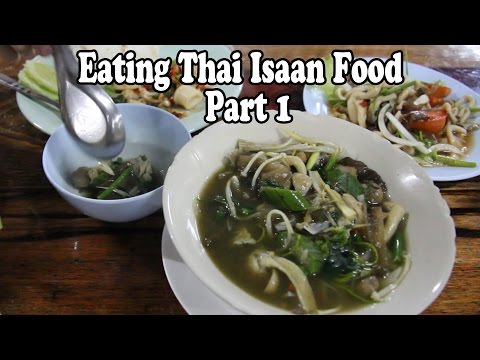 Eating Thai Food: Thai Isaan (North-Eastern) Food. Isaan Loso Thai Restaurant, Krabi Thailand