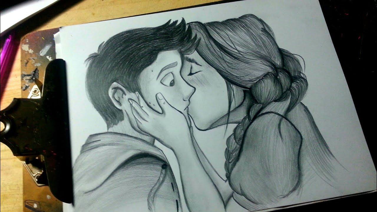 Dibujando Una Pareja Speed Drawing Love Youtube