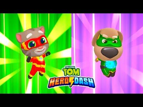 ГОВОРЯЩИЙ ТОМ ПОГОНЯ ГЕРОЕВ #19 Talking Tom Hero Dash лучше Бег за золотом Игра про мультик