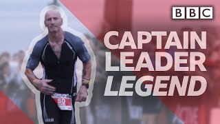 The day Gareth Thomas took on his haters and the Iron Man challenge  - BBC
