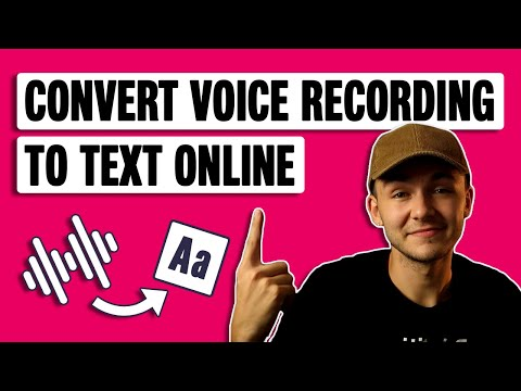 How to convert voice recording to text on computer